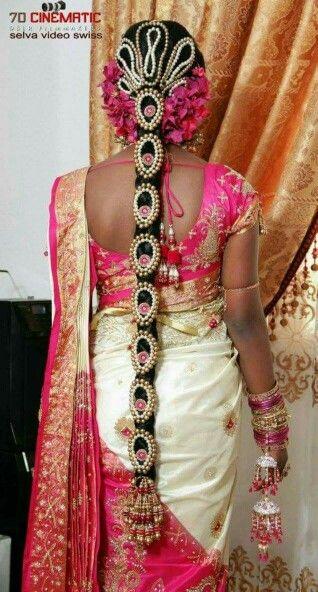 Tamil Bridal Hair Indian Bridal Makeup Flowers In Hair Indian Bridal Hairstyles