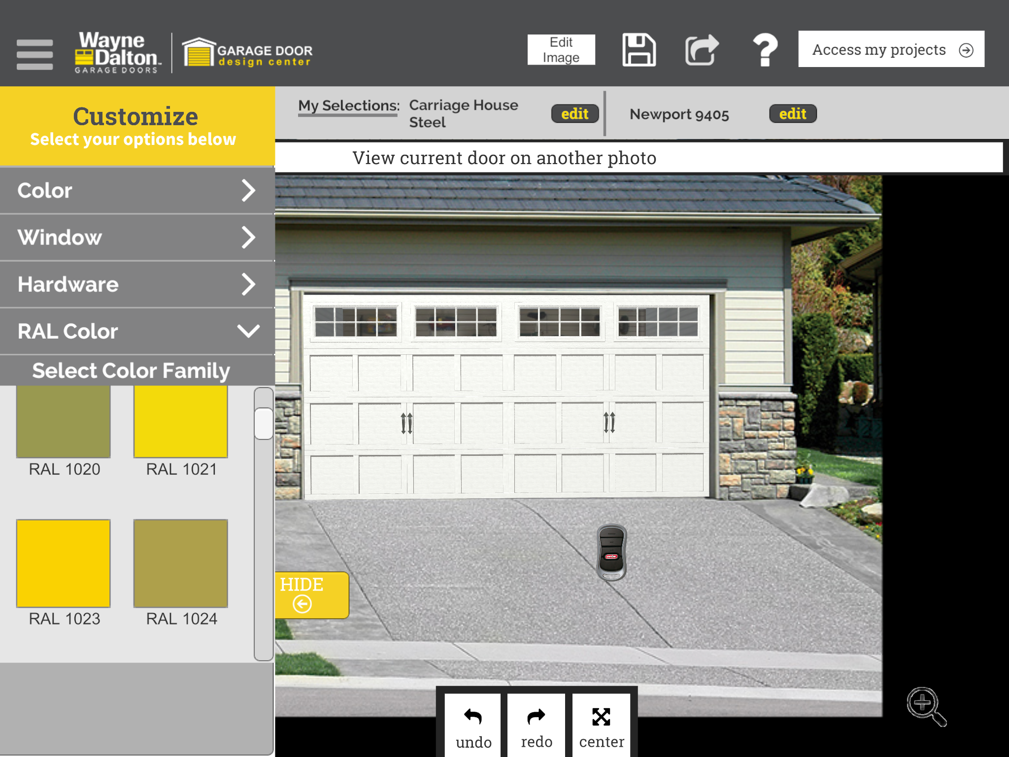 Check Out The Garage Door I Designed Using The Wayne Dalton App Door Images Steel House Ral Colours