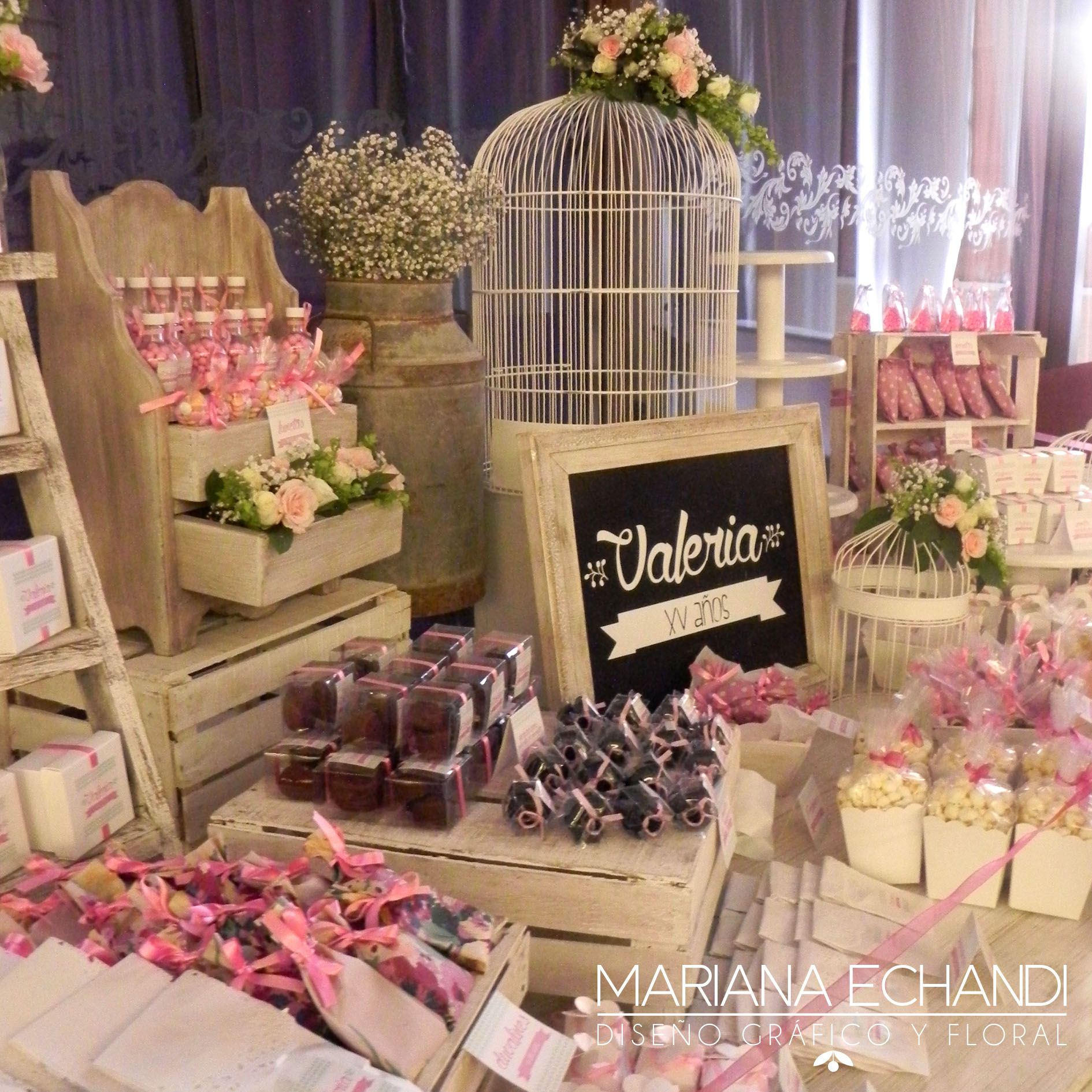 Candy bar xv a os candy bar mesa de dulces pinterest for Decoracion xv anos vintage