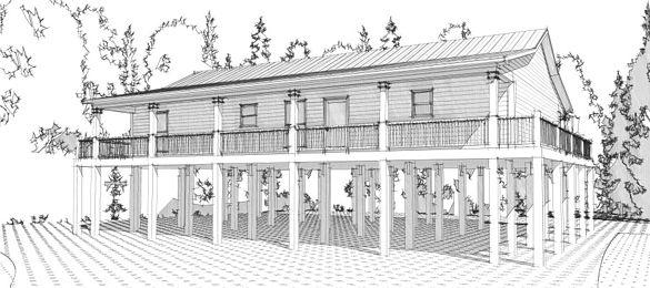 Coastal Home Plans - Bluegill Cove house ideas Pinterest Beach