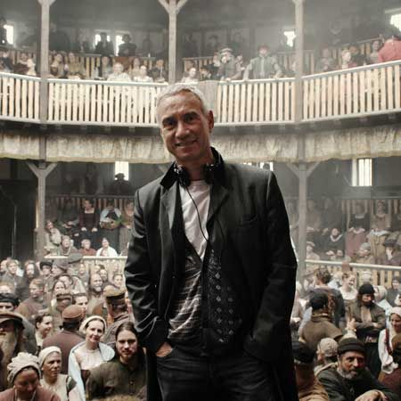 """Roland Emmerich on the set of """"Anonymous"""""""