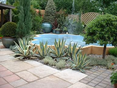 Wonderful Mediterranean Garden Feature