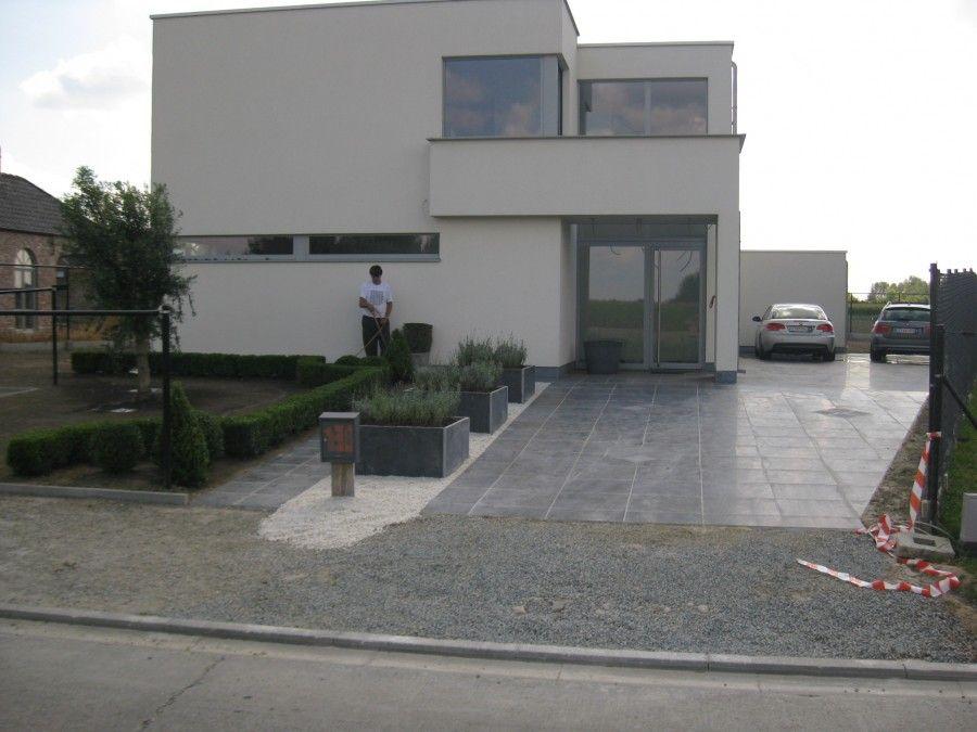 Afbeeldingsresultaat voor ontwerp oprit en terras ontwerp tuin
