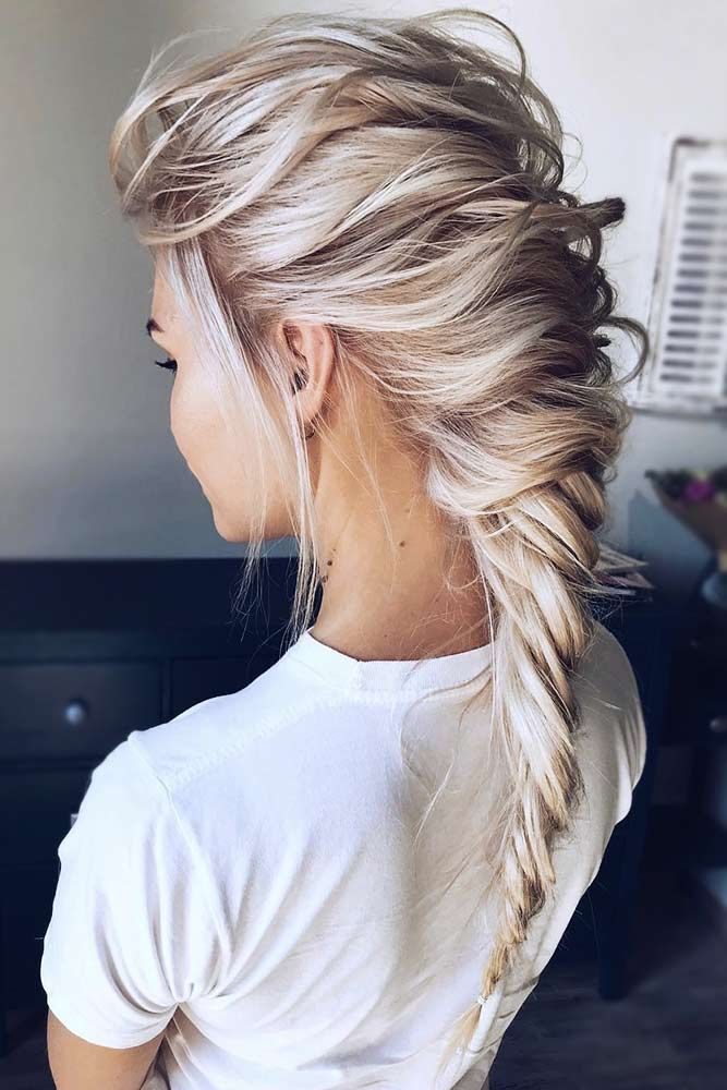 54 Unique Fall Hairstyles To Try Out #messybraids
