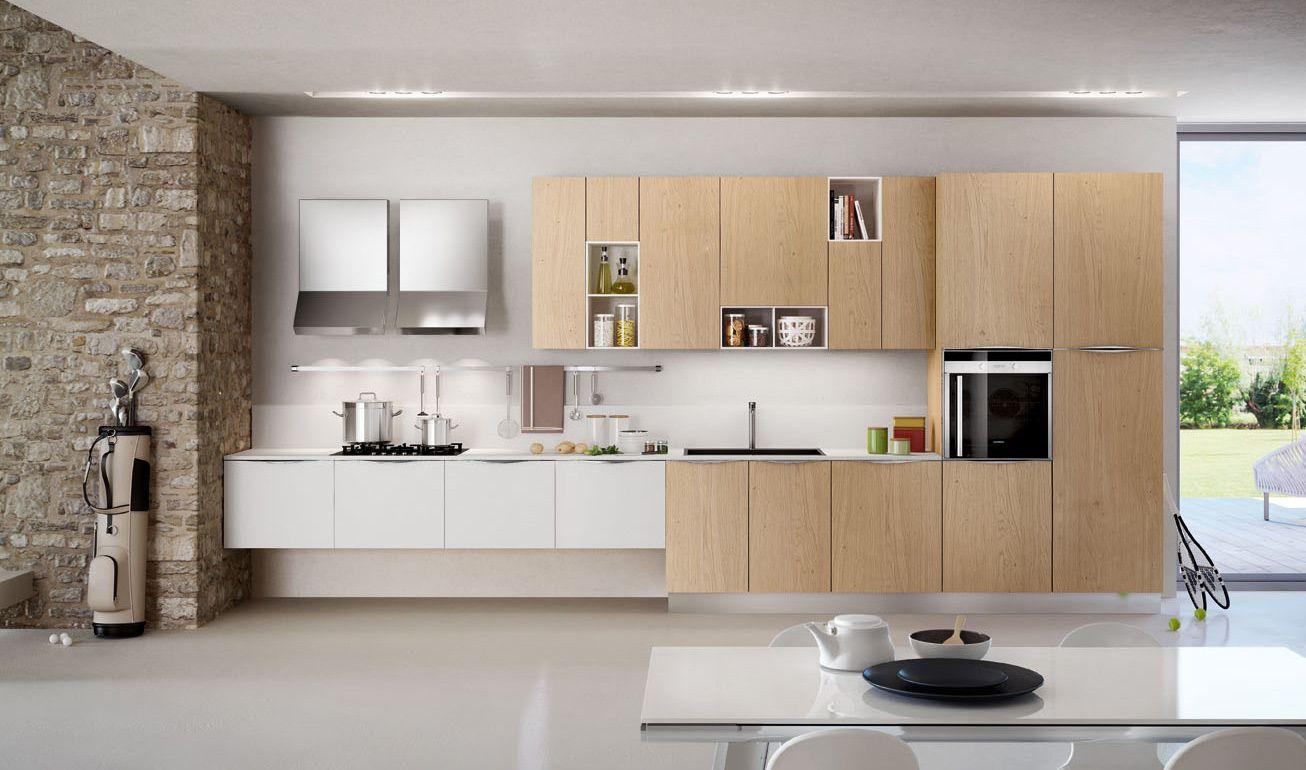 Cucina in legno e bianco cerca con google cucina pinterest kitchen kitchen design e - Dipingere i mobili della cucina ...