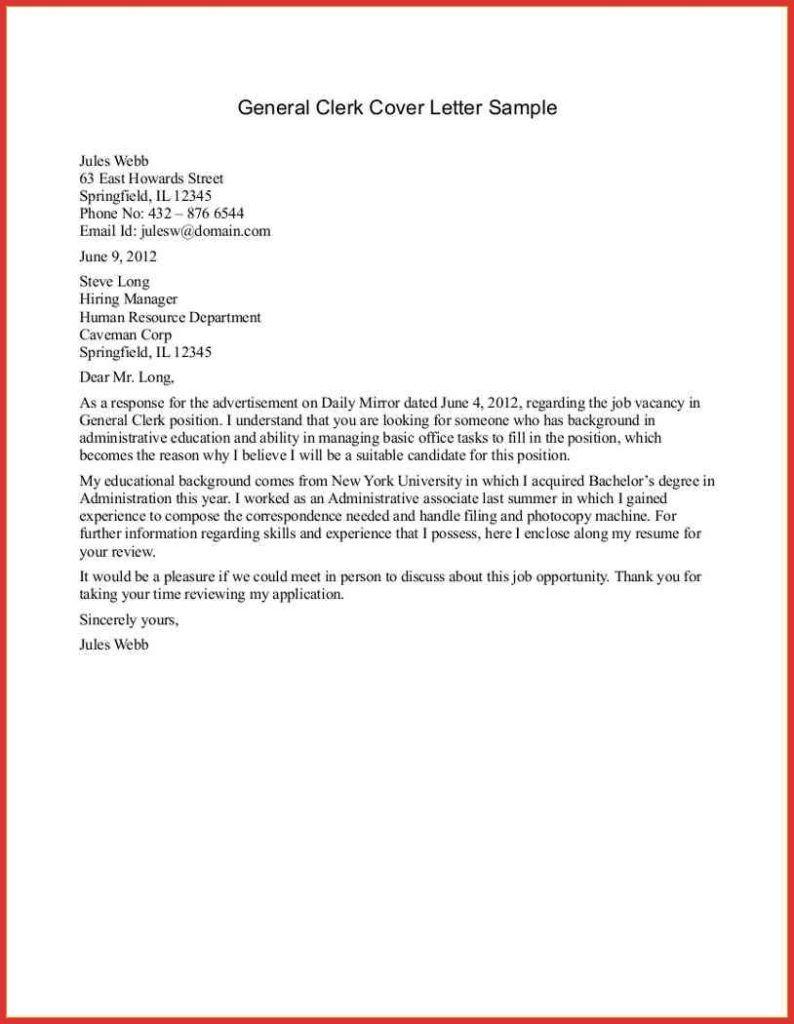 27+ General Cover Letter Sample . General Cover Letter ...