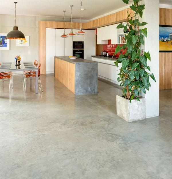 Hackney London Lazenby Concrete Kitchen Floor Open Plan Kitchen Diner Concrete Floors Living Room