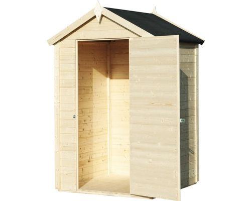 Gerätehaus Mini mit Fußboden 120 x 126 cm natur