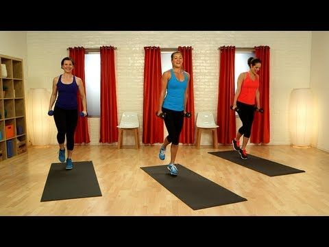 We know you want to work your entire body, so we made a 40-minute video that will do just that — complete with a cardio warmup and stretching cooldown. We have 10 minutes dedicated to your upper body and another 10-minute section to work your gams and glutes. We focus on the core, too, with standing ab work mixed with traditional mat work. Grab ...