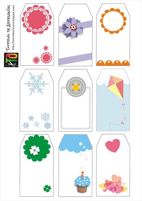 Tutorial de Artesanías: 30 Etiquetas imprimibles gratis | Printable ...