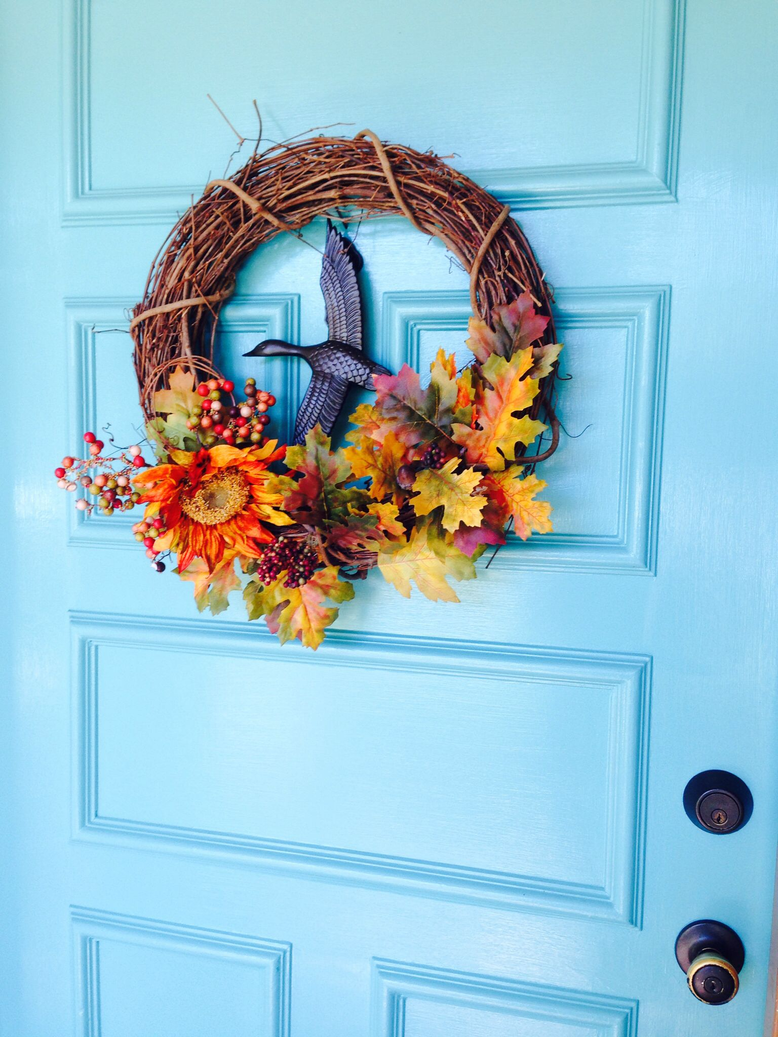 My happy fall door door color is sherwin williams for Aquarium decoration paint