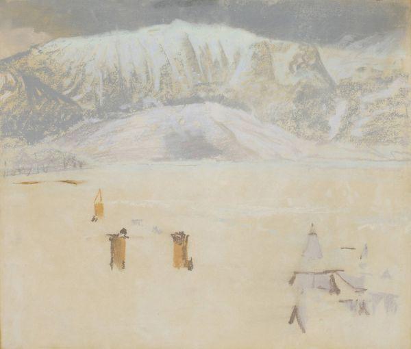 Zima w Zakopanem - Leon Wyczółkowski