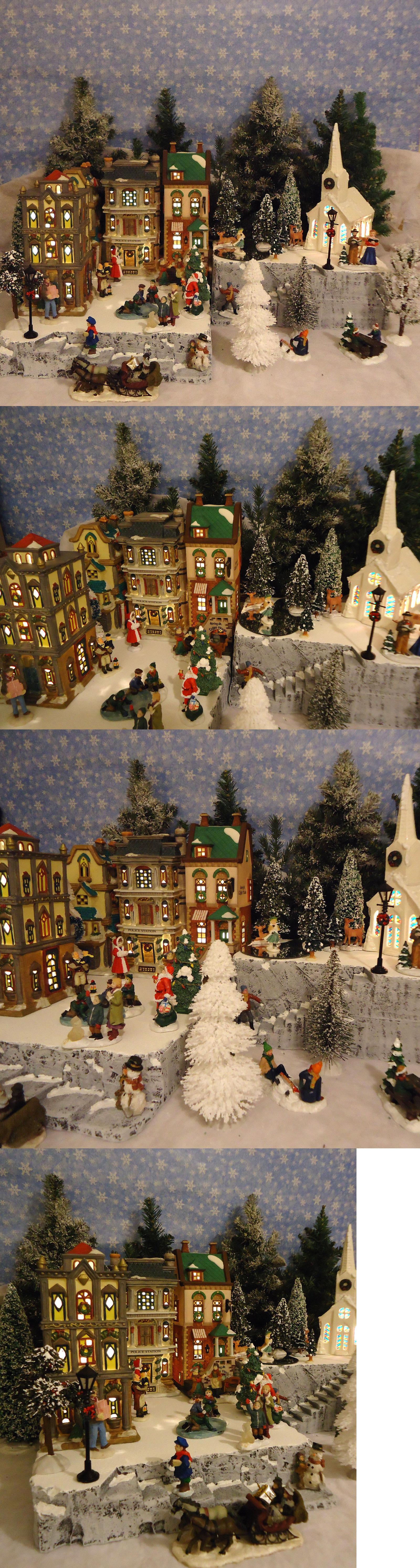 Department 56 dickens village display ideas - Christmas Collectible Department 56 Christmas Snow Village Display Platform Base Dept 56 Lemax St
