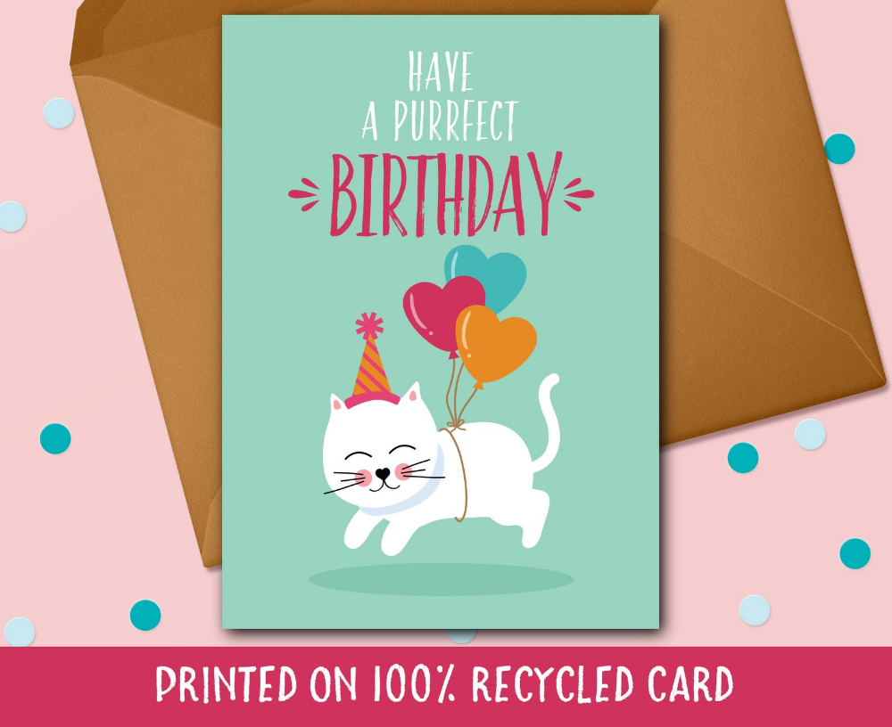 Cat Birthday Card Funny Cat Card Cat Lover Gift Funny Etsy Cat Birthday Card Cat Birthday Cards Funny Birthday Cards For Friends