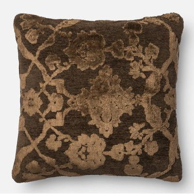 Loloi Rugs Pillow Cover Color: Dark Taupe