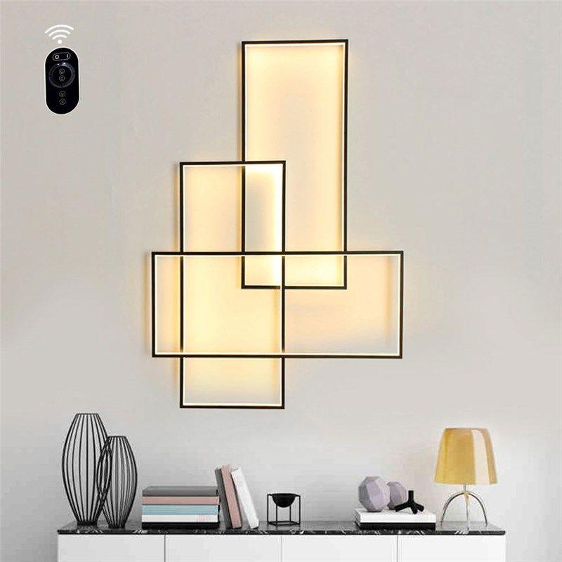 Postmodern Simple Ceiling Light Creative Rectangles Sconce Living Room Bedroom Background Lighting Wall Lamps Living Room Wall Lights Lamps Living Room
