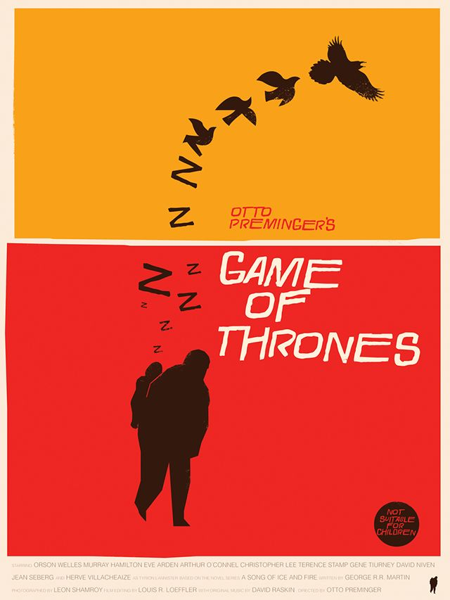 Game Of Thrones Art Prints In The Style Of Saul Bass By Fernando Reza Saul Bass Game Of Thrones Art Game Of Thrones Poster