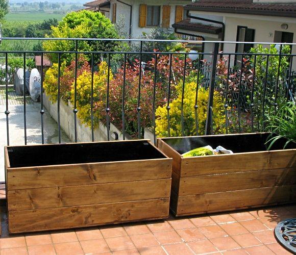 Compagnia del giardinaggio fioriere in legno fai da te for Fioriera legno fai da te