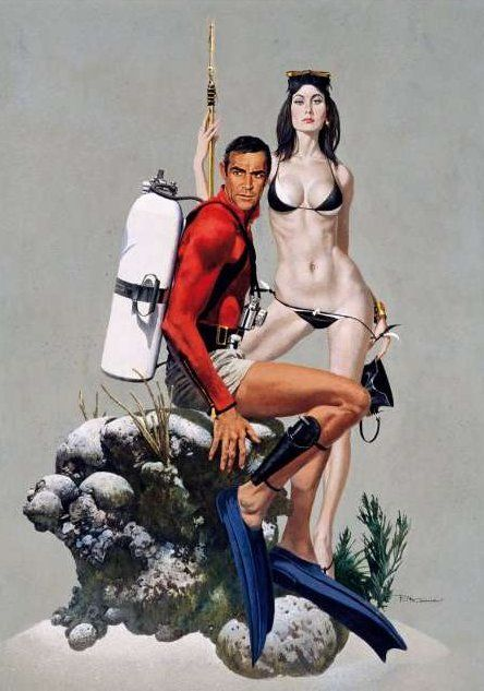 James Bond illustration by Robert McGinnis