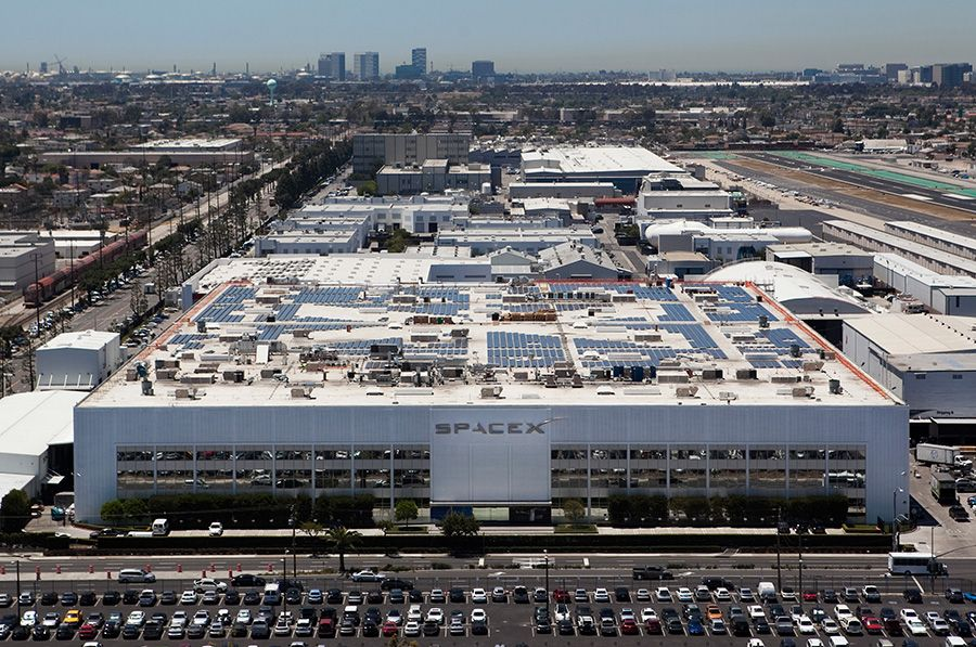 SpaceX headquarters in Hawthorne. | Elon Musk | Pinterest ...
