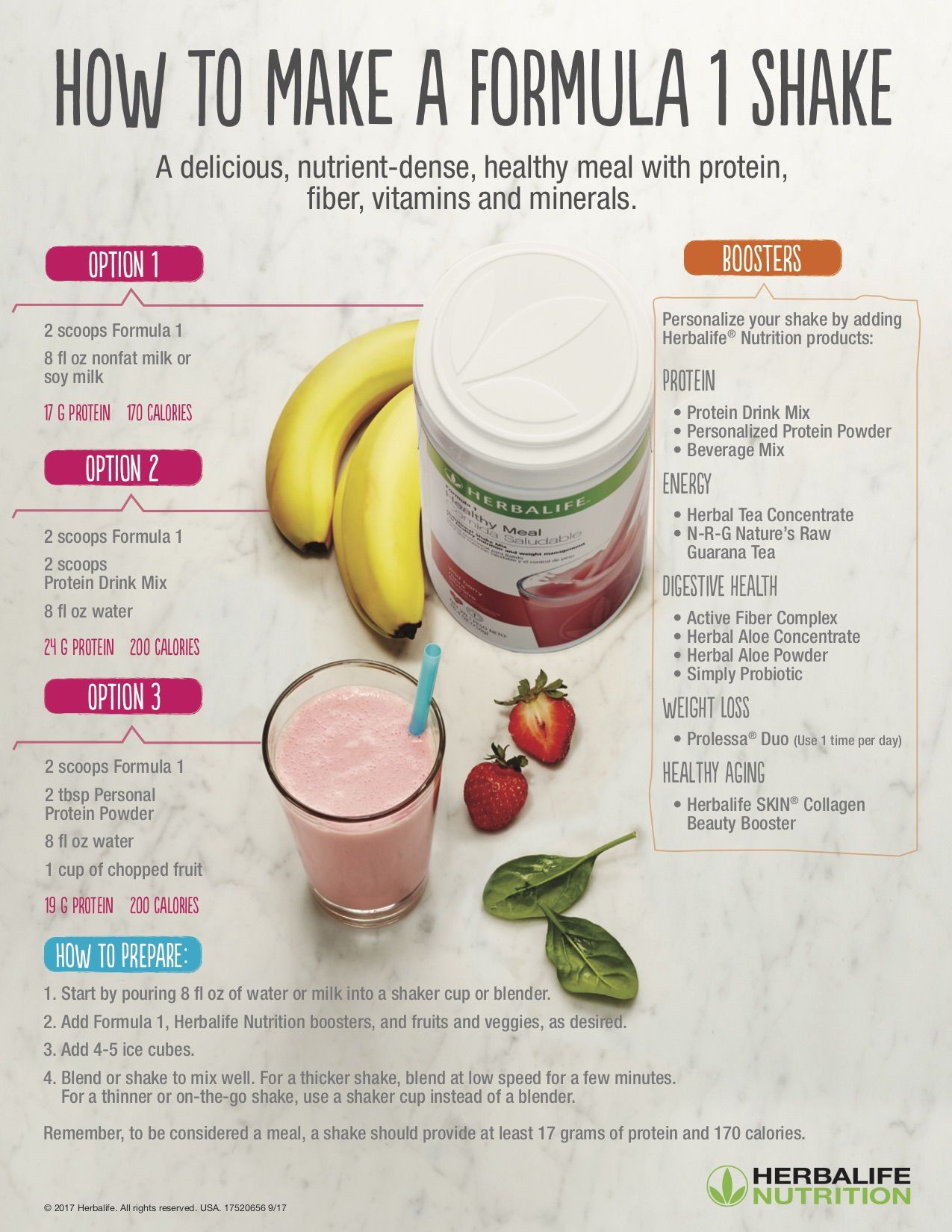 How to make a Formula 1 Shake | Herbalife | nutrición ...