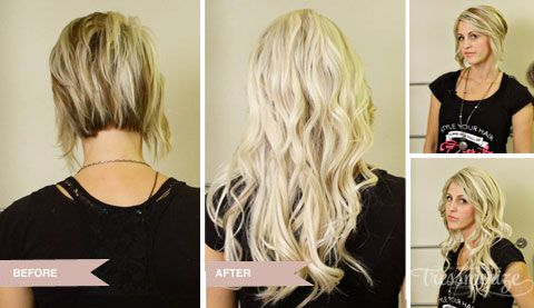 Hair Extensions Before and After | Hair extensions