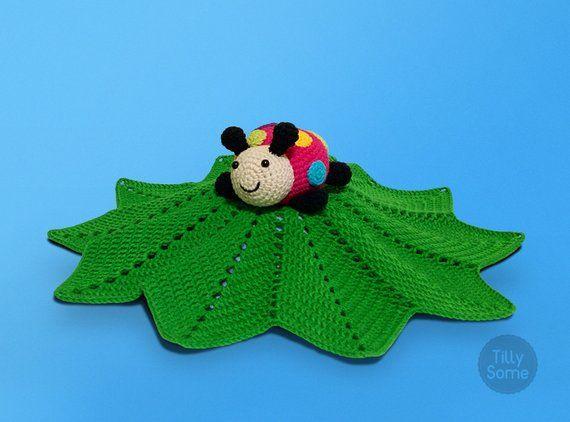 Ladybug Lovey Pattern | Security Blanket | Crochet Lovey | Baby Lovey Toy Pattern Crochet Blanket Toy Lovey Blanket PDF Crochet Pattern #securityblankets