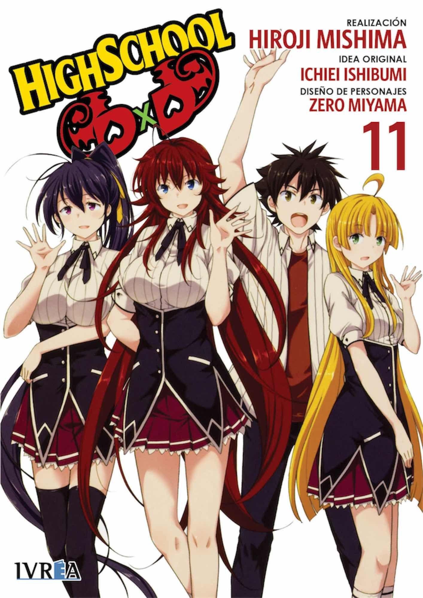 Highschool Dxd Manga 11 Isbn 9788417537302 Manga De Hirohi Mishima
