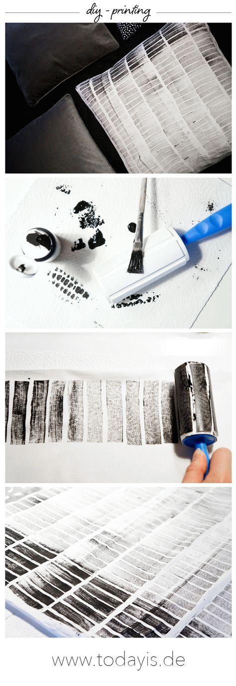 Diy printing   Ikea Hack   Kissen bedrucken   Stempeldruck   www - ikea küche anleitung