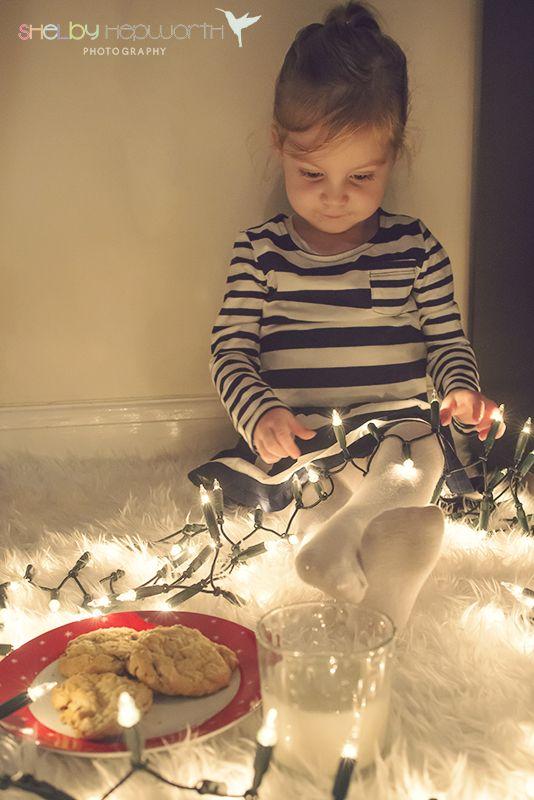 Christmas Photography - Christmas Lights - Toddler Christmas