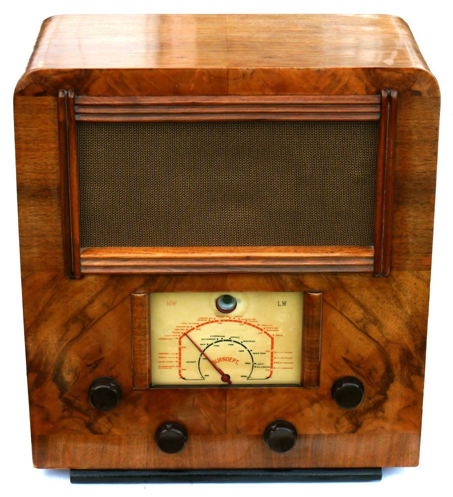 C1938 Burndept Large Walnut Cased Valve Radio Working Beautiful Cond Vintage Radio Antique Radio Radio