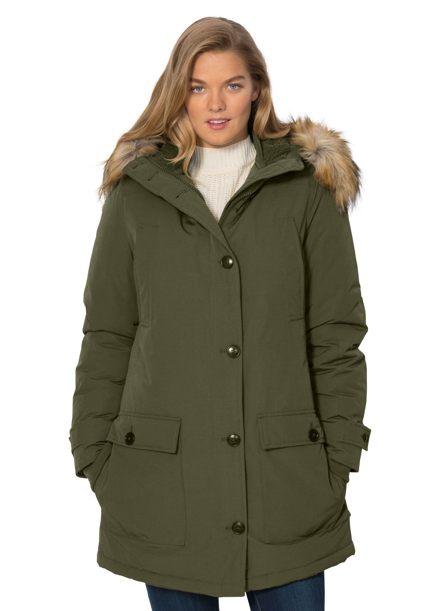 67486f62bd7 The Arctic Parka by Woman Within - Women s Plus Size Clothing ...