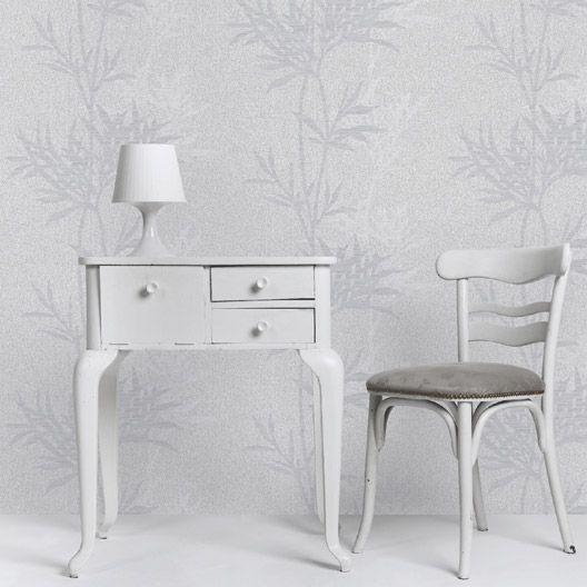 Papier peint expansé sur intissé Palme, gris foncé On the walls
