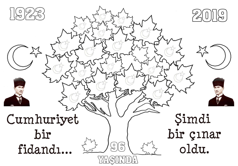 Etkinlikburada Com 29 Ekim Cumhuriyet Bayrami Boyama Boyama