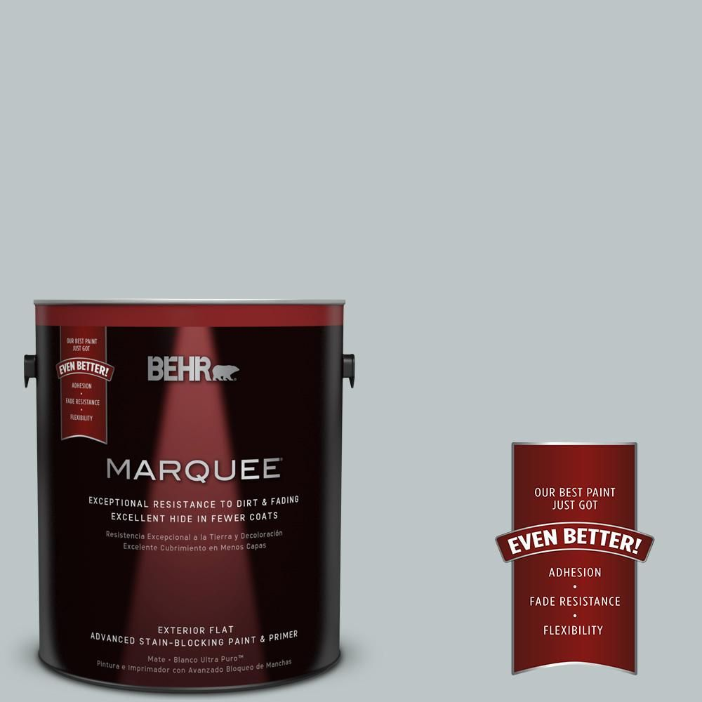 BEHR MARQUEE 1-gal. #PPU12-10 Misty Morn Flat Exterior Paint