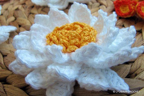 Multi Layered Crochet Flower Pattern, Gorgeous Crochet Flower 3D Multi Layer Tutorial Pattern PDF, Lyubava Crochet Flower Pattern number 95