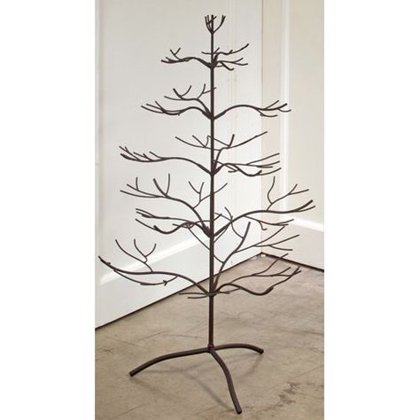 Tripar 36 In Metal Display Tree Five Tiers Of Perfectly Curved Branches Make This Tripar 36 I Ornament Tree Display Metal Christmas Tree Metal Ornament Tree