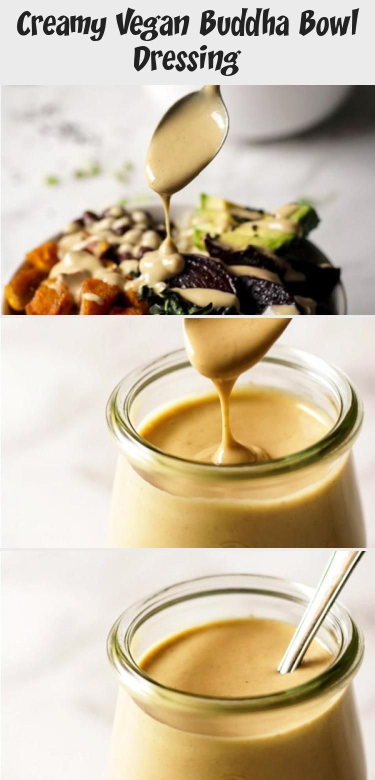 Photo of Creamy Vegan Buddha Bowl Dressing – Dinner Recipes