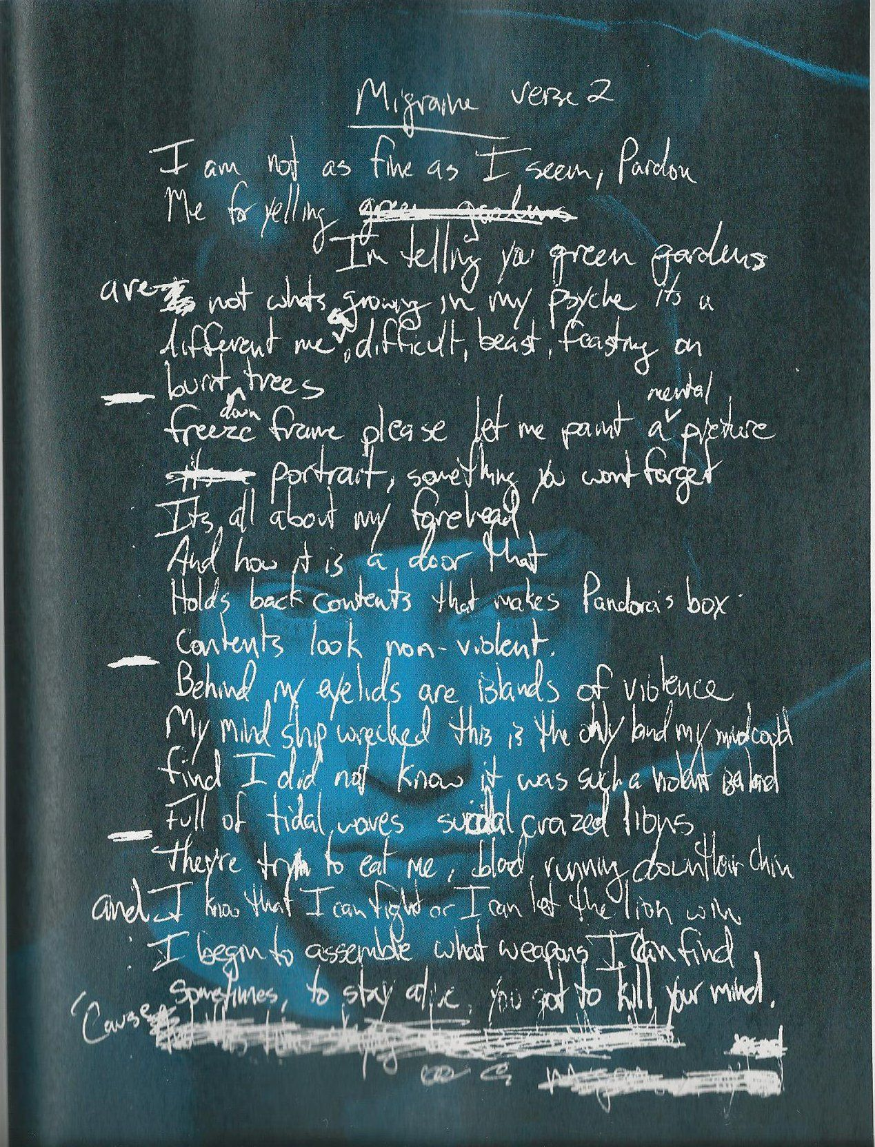 migraine handwritten lyrics twenty à ne pilà ts pinterest migraine
