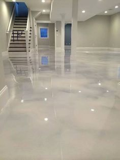 Pearl White Epoxy Concrete Floor Mieles S Saves