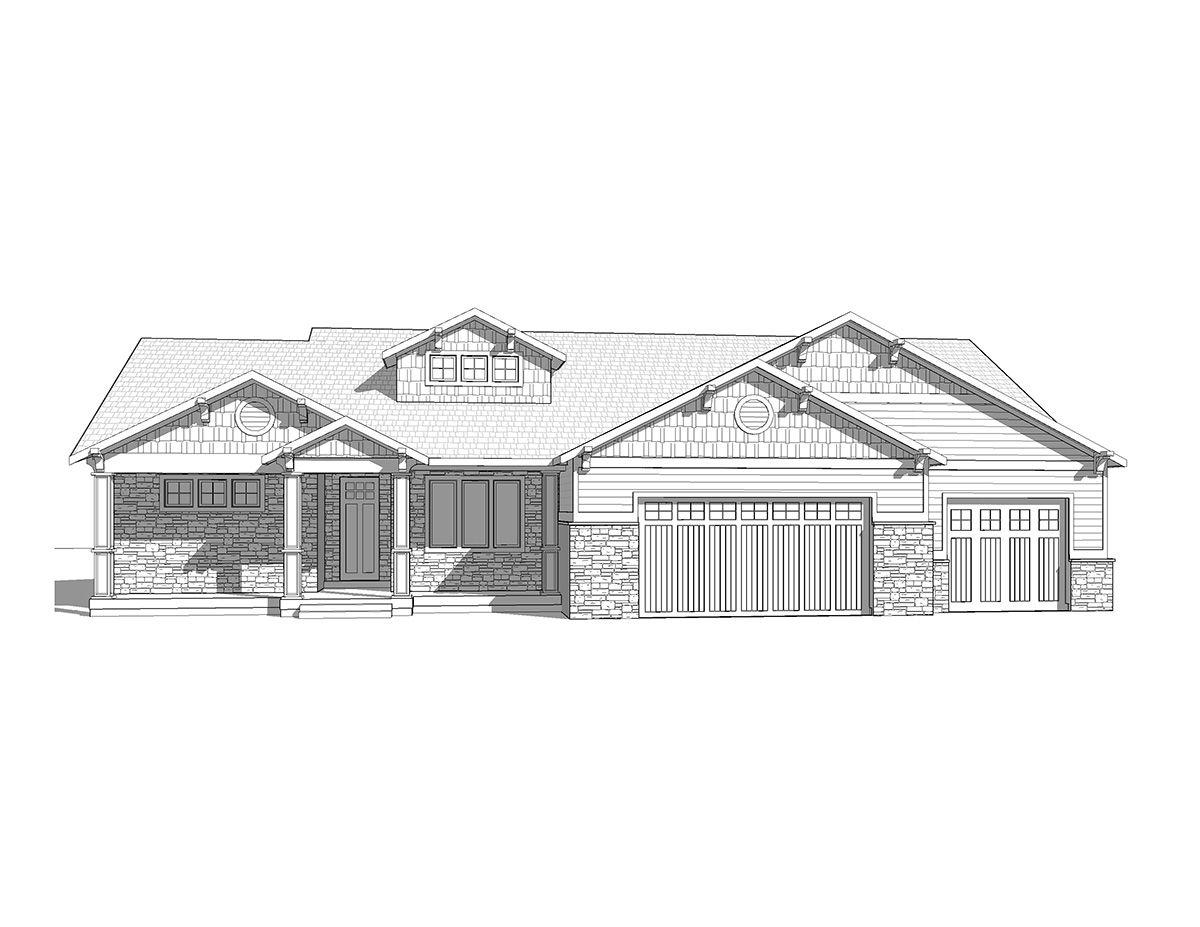 Cloverdale - A craftsman style rambler house plan - Walker Home ...