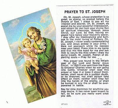 Bible Saints: A Novena to Saint Joseph