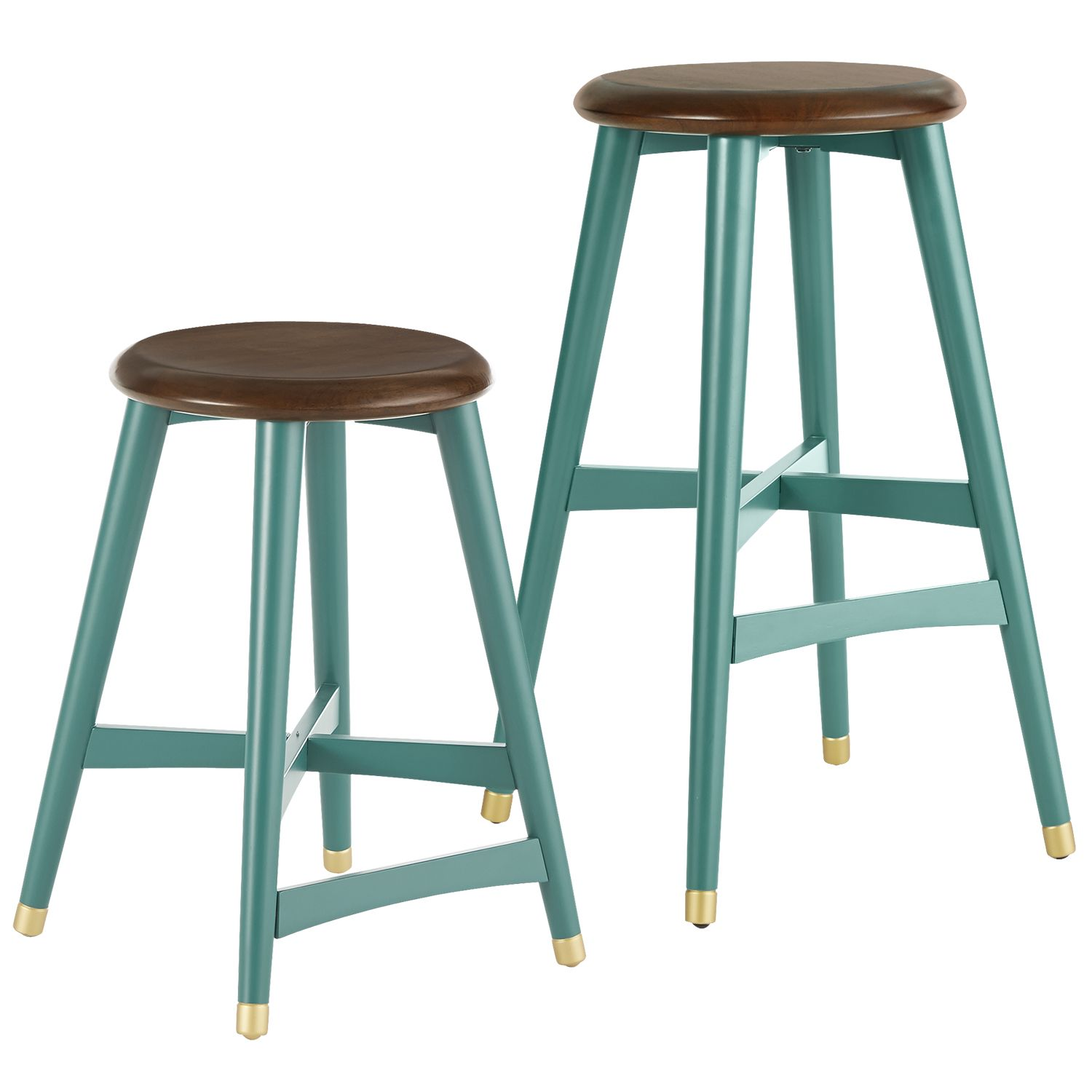 Cooper Bar & Counter Stools - Turquoise - Wood | *Chairs > Bar ...