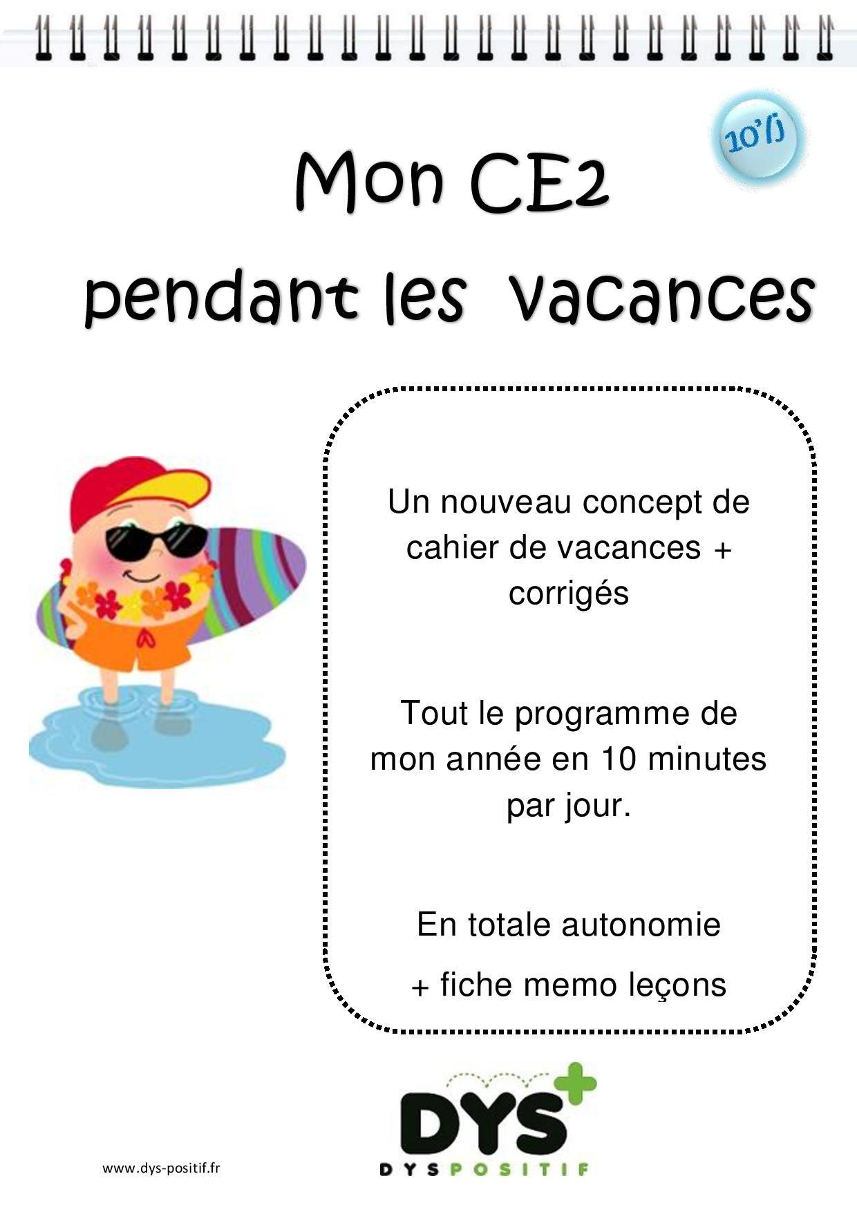 Ce2 - 3ème primaire - Cahiers de vacances DYS à imprimer ...