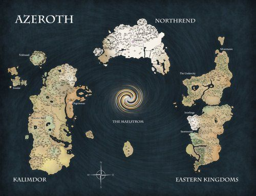 Map of Azeroth | Fictional Places Maps | Pinterest | Fantasy map and ...