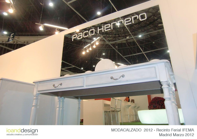 """Stand realizado para la Empresa """"PACO HERRERO"""" en la Feria Internacional del Calzado MODACALZADO 2012 en el Recinto Ferial de Madrid IFEMA en Marzo 2012"""