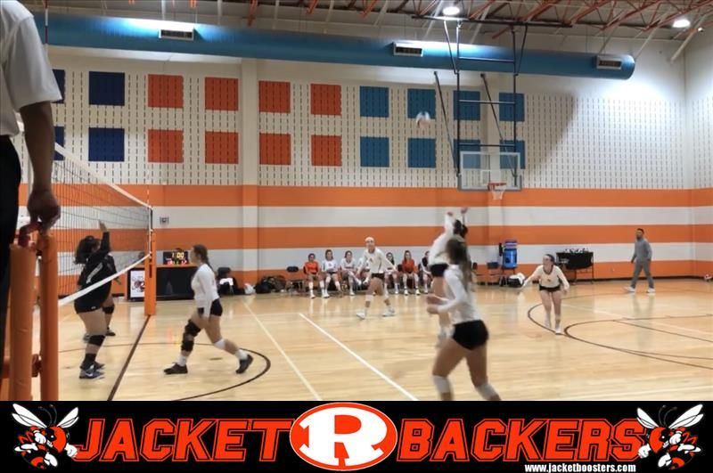 The Rockwall Freshman Volleyball A Team Easily Handles Mesquite Horn In Two Sets Basketball Court Volleyball Freshman
