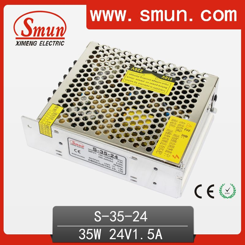 High quality switching power supply 35w dc 24v15a single