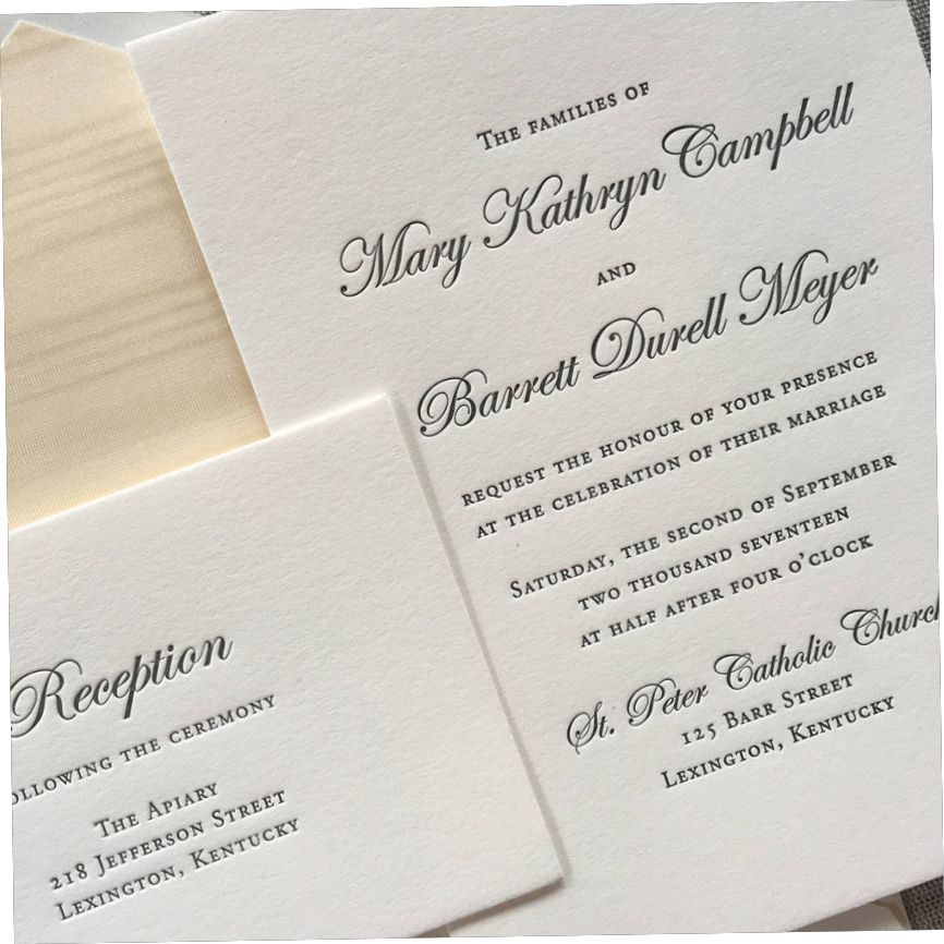 Letterpress Wedding Invitation Letterpress Wedding Letterpress