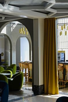 India mahdavi interiors paris google search also parisian  restaurant interior villa palagonia rh pinterest